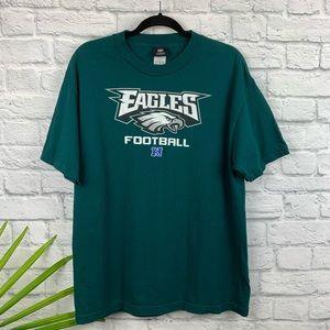 🔮NFL Team Apparel Philadelphia Eagles Tee Shirt L